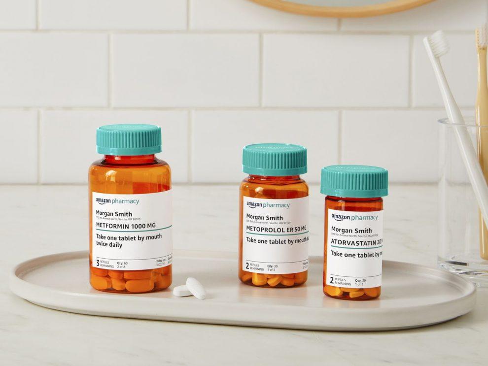 Amazon Pharmacy bottigliette medicinali di prescrizione