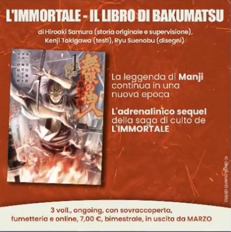 L'immortale - Il libro di Bakumatsu - Planet Manga