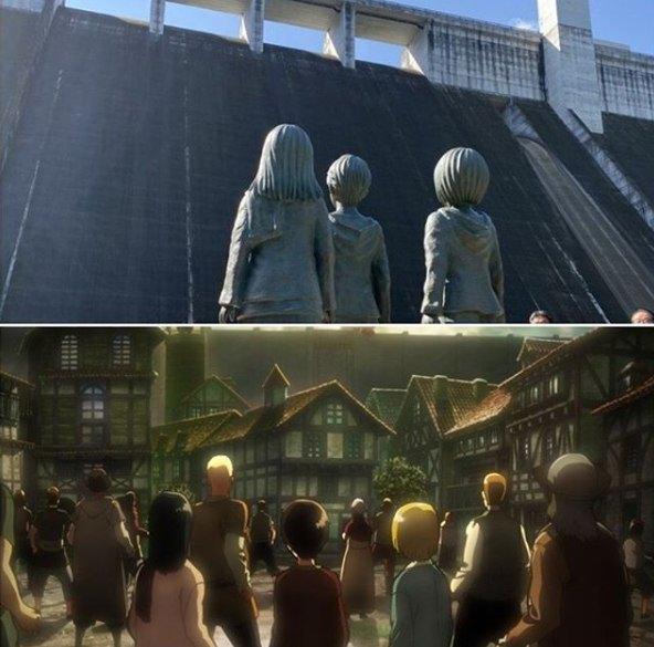 shingeki no kyojin - attacco dei giganti - snk - statue - statues - attack on titan