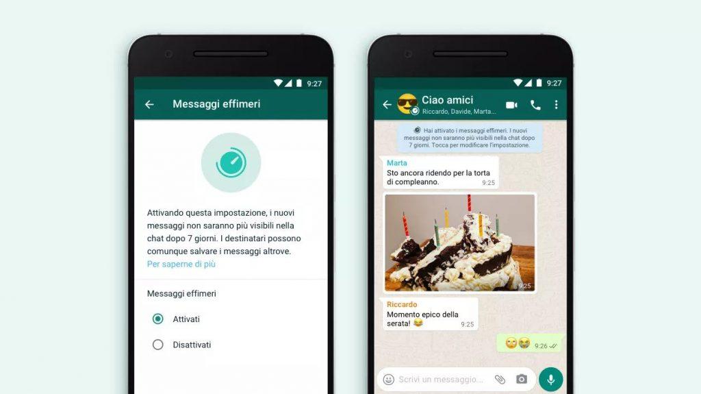 WhatsApp introduce i messaggi che si autodistruggono
