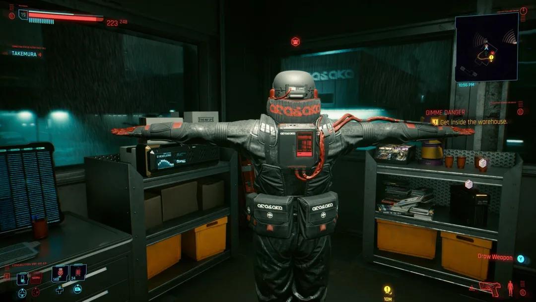 Cyberpunk 2077 screenshot di un bug