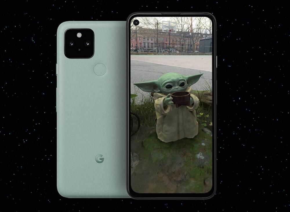Grogu Baby Yoda Google realtà aumentata AR 3D ARCore