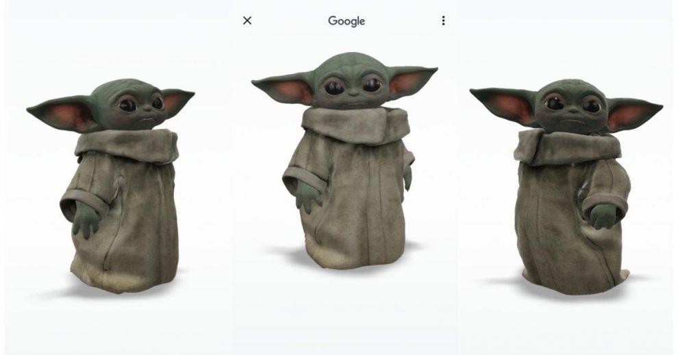 Google Grogu Baby Yoda modello 3D realtà aumentata AR