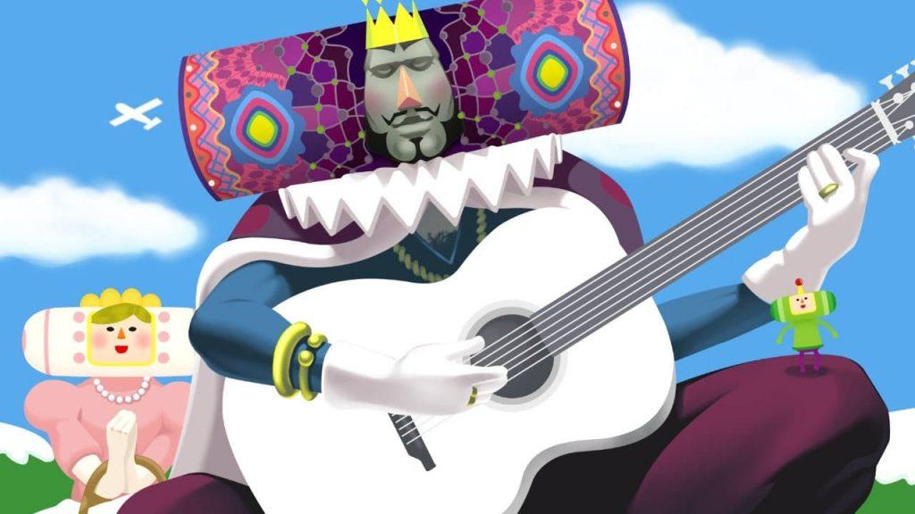 Katamari Damacy Re del Cosmo che suona la chitarra