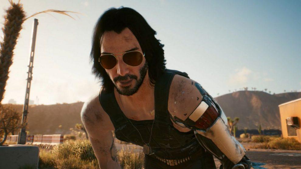 Keanu Reeves in Cyberpunk 2077 su console old gen