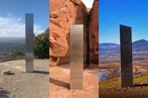 Tre monoliti apparsi nel mondo