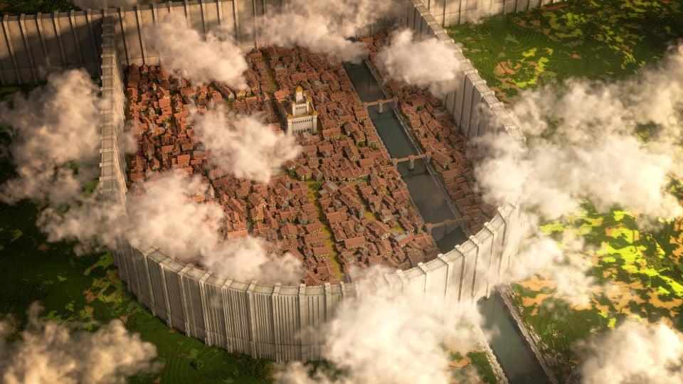 L'Attacco dei giganti: Shinganshina su Minecraft