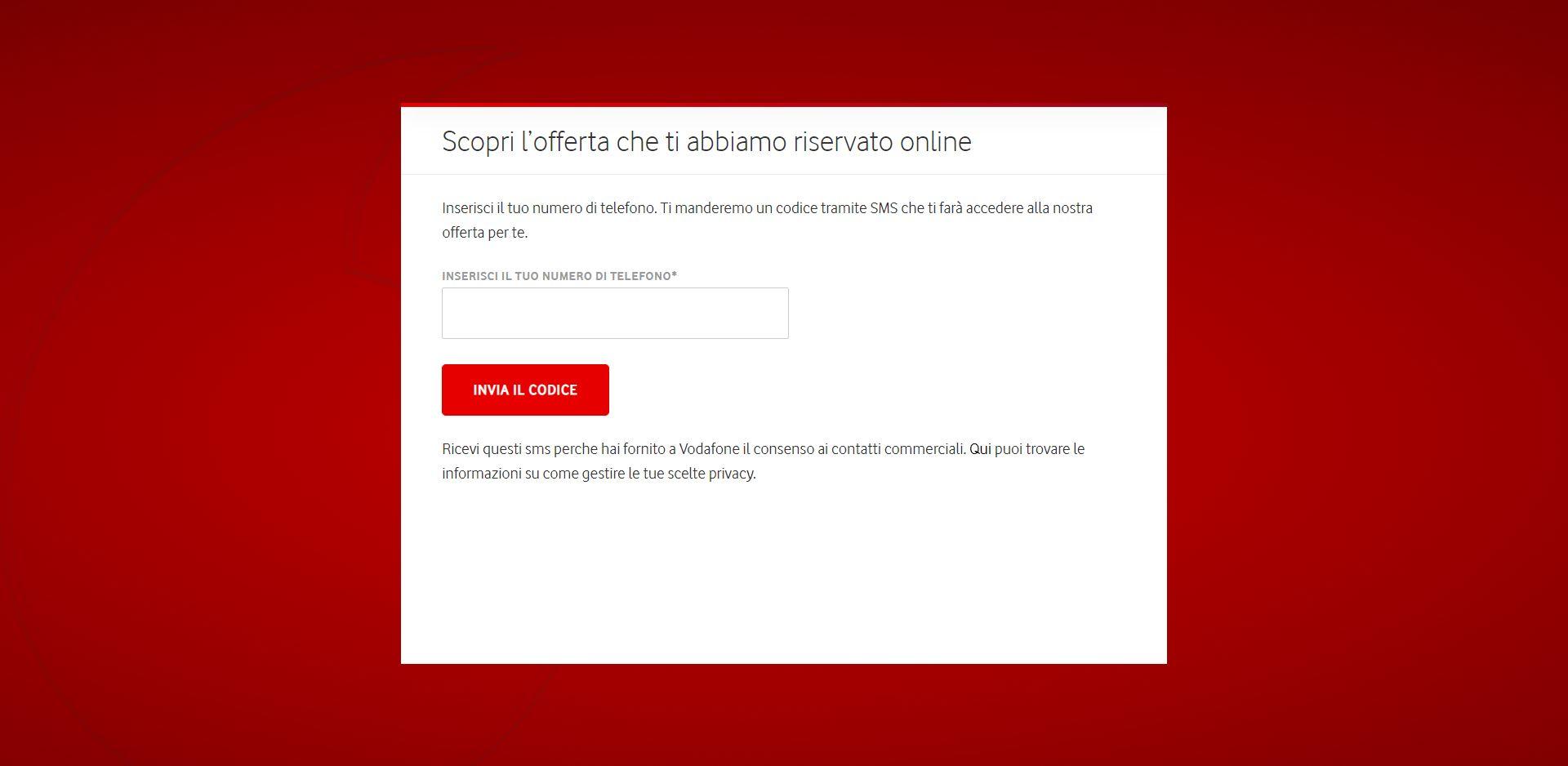 Offerta Vodafone passaggio da Ho.mobile