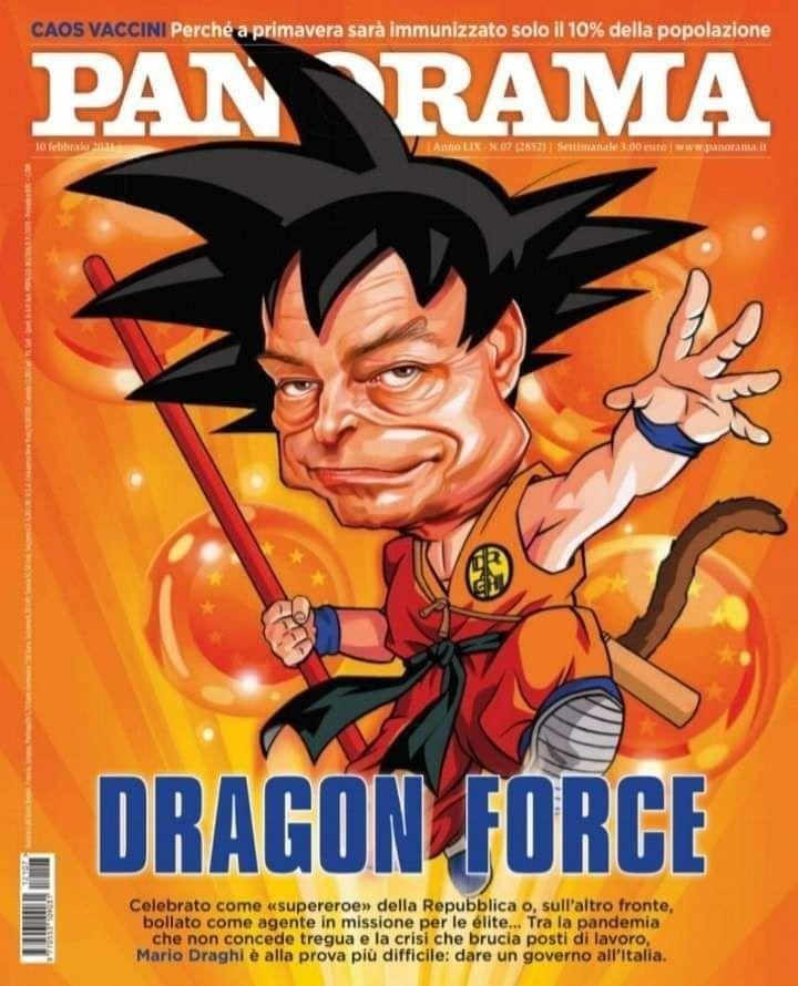 Mario Draghi versione Goku