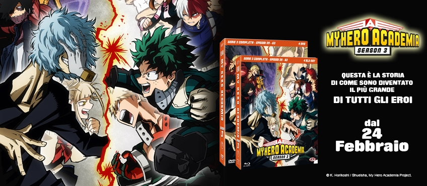 My Hero Academia Blu-Ray e Dvd