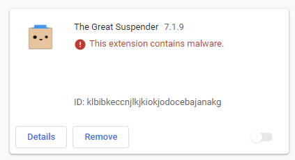 the great suspender malware