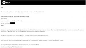 Apex Legend Email Controversa