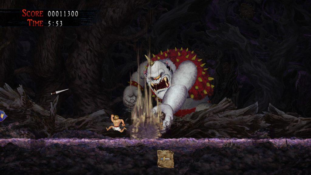 Ghosts'n Goblins Resurrection scontro con un boss