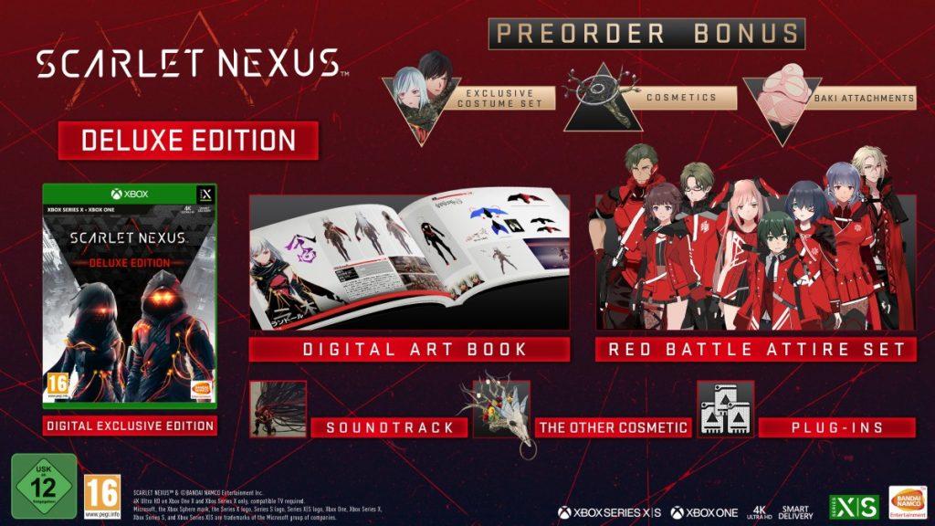 Contenuti della deluxe edition di scarlet nexus