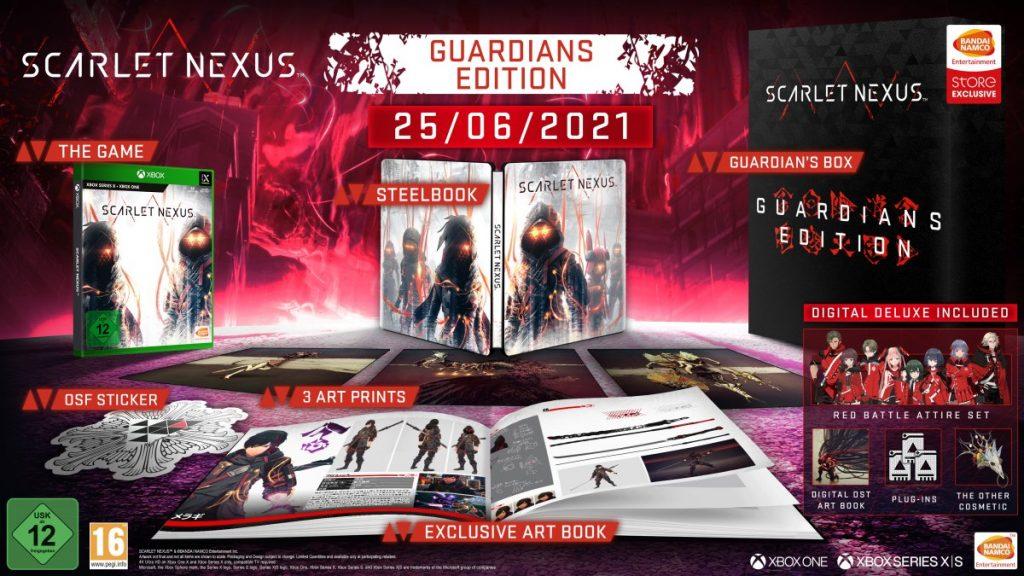 Contenuti della guardians edition di scarlet nexus
