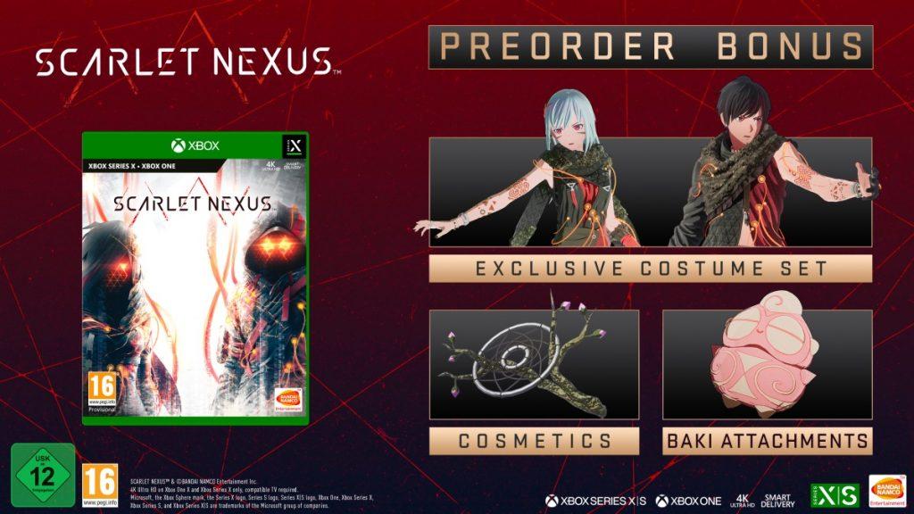 Contenuti del bonus pre-order di scarlet nexus
