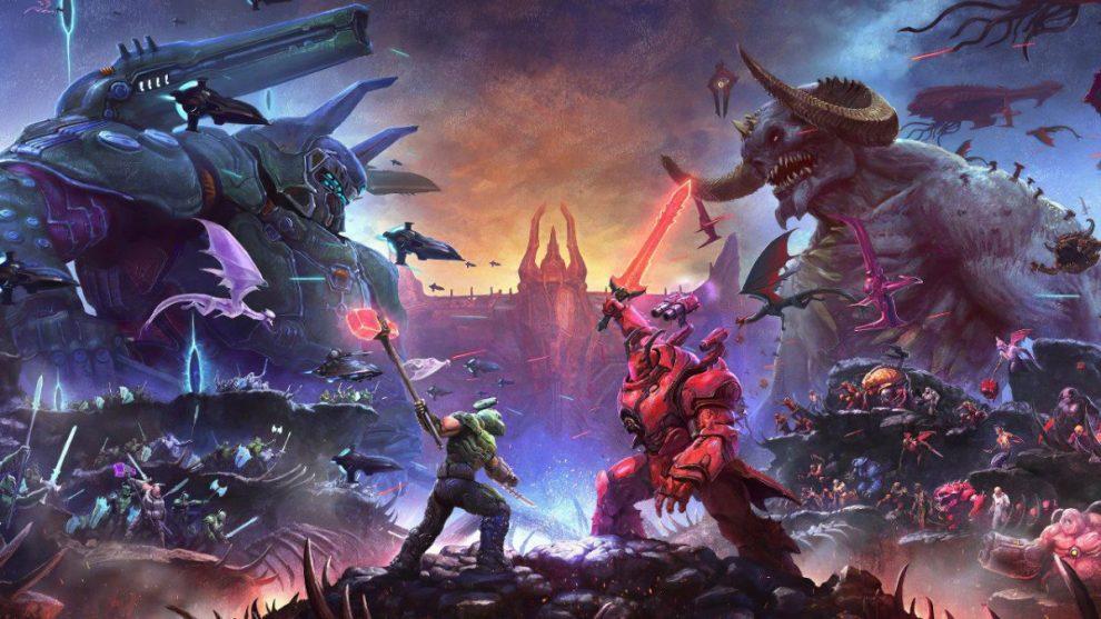 Doom Eternal the ancient gods parte 2 artkwork
