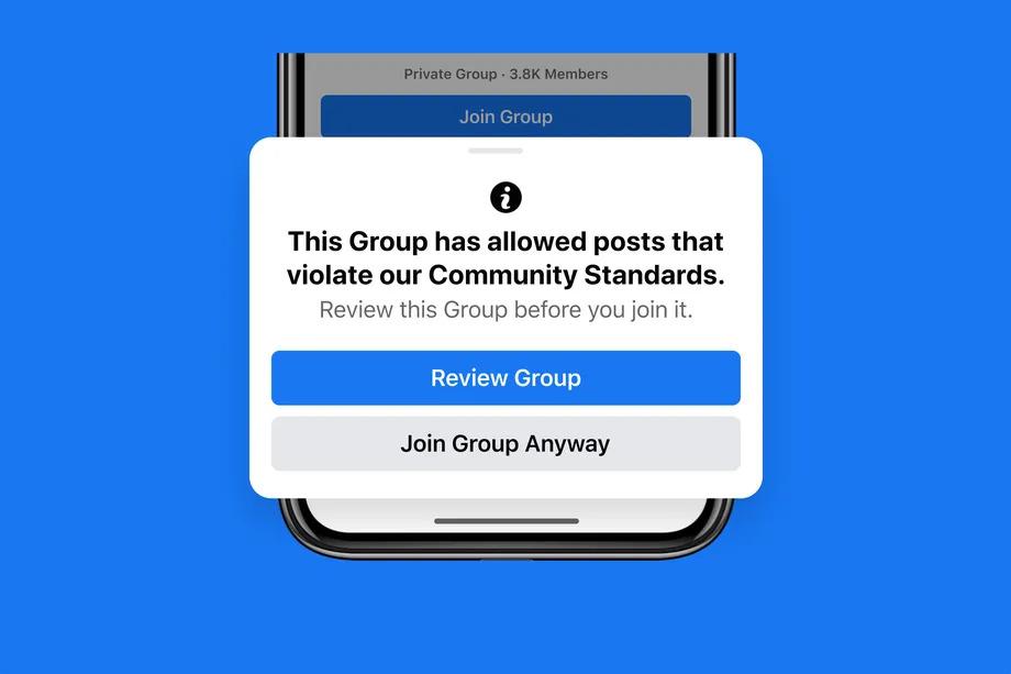 Facebook gruppi avviso violazioni regole