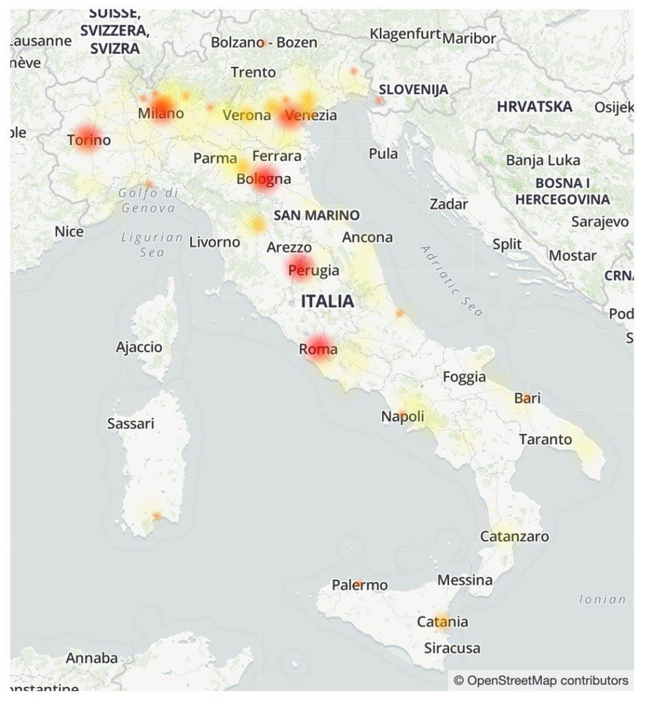 Iliad mappa problemi Italia