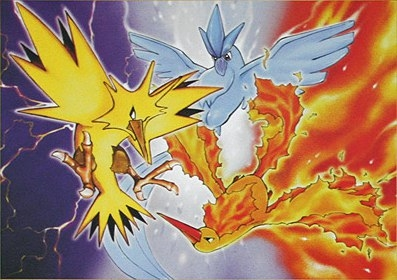 uccelli leggendari - pokemon