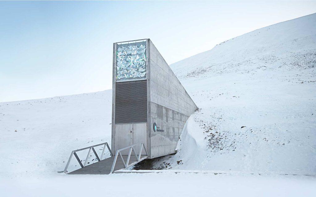 Isole Svalbard banca di semi Luna