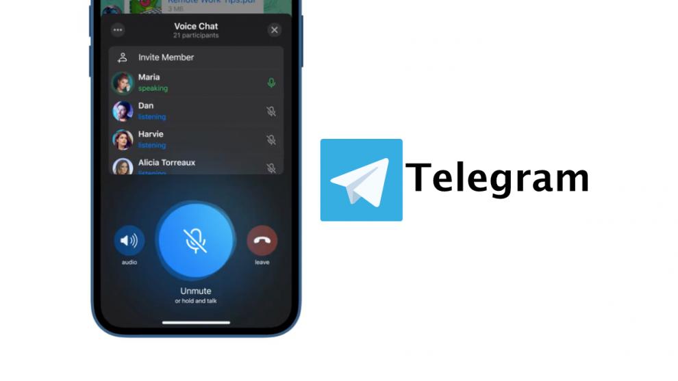 telegram canali vocali voice chat