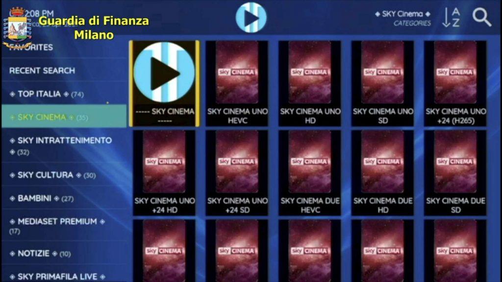 IPTV Pezzotto Multati 2000 clienti
