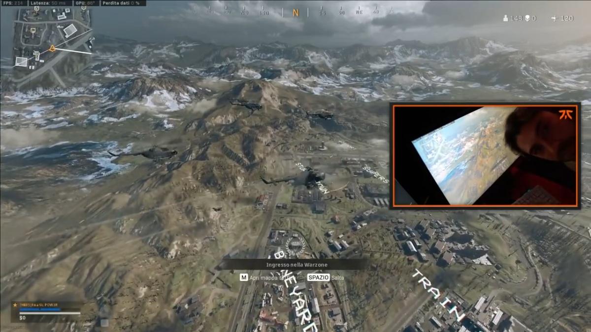 Screenshot della live di POW3R su Warzone