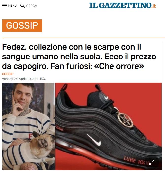fedez scarpe attacco 1