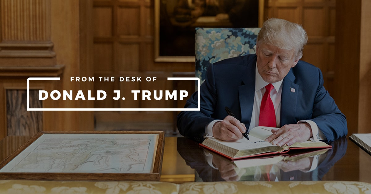 from the desk of donald trump facebook