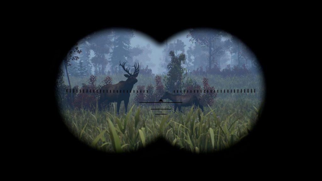 Visione con binocolo in Open Country
