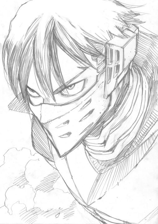 My Hero Academia Iida Horikoshi sketch