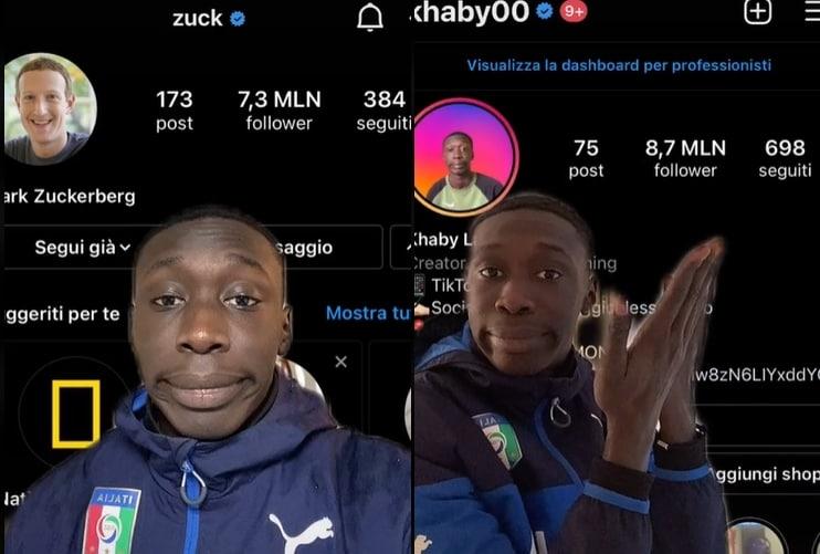 khaby lame - mark zuckerberg - tik tok - instagram