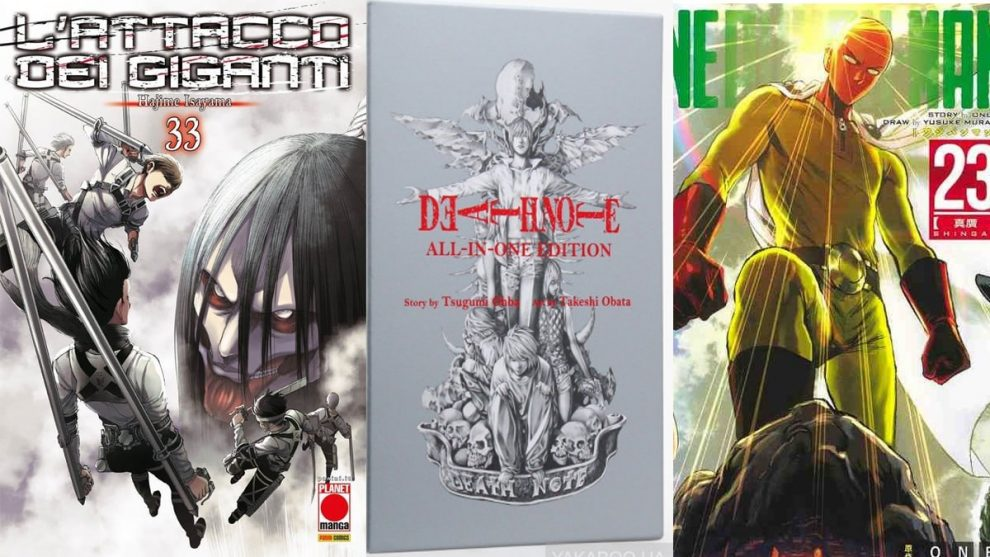planet manga - panini comics - death note - attacco dei giganti - chainsaw man - one punch man