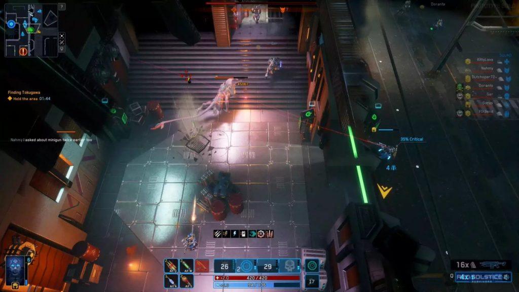 Screenshot di gioco di Red Solstice 2