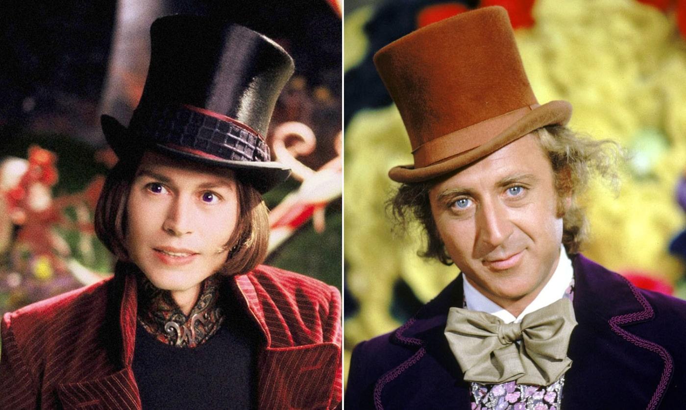 Johnny Depp e Gene Wilder willy wonka