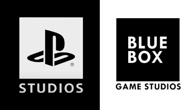 Blue box sviluppatore di abandoned e logo ps studios a confronto