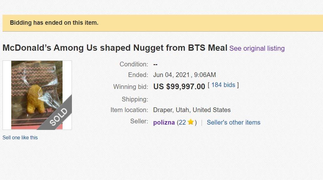 chicken nugget ebay