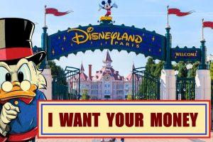 Paperone vuole i tuoi soldi davanti a Disneyland