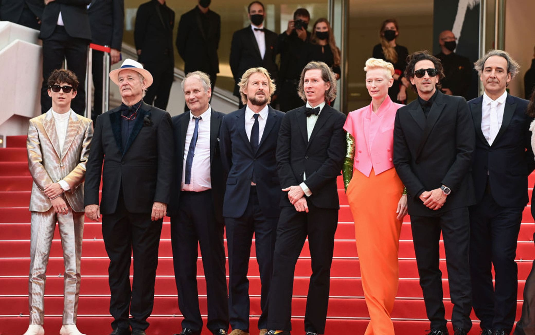 cast the french dispatch red carpet cannes