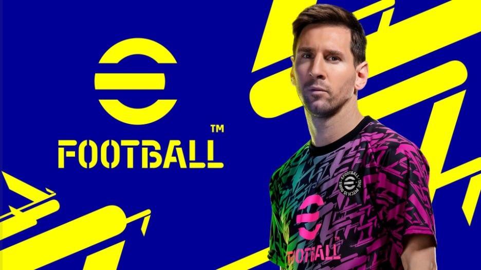 eFootball Logo con Messi