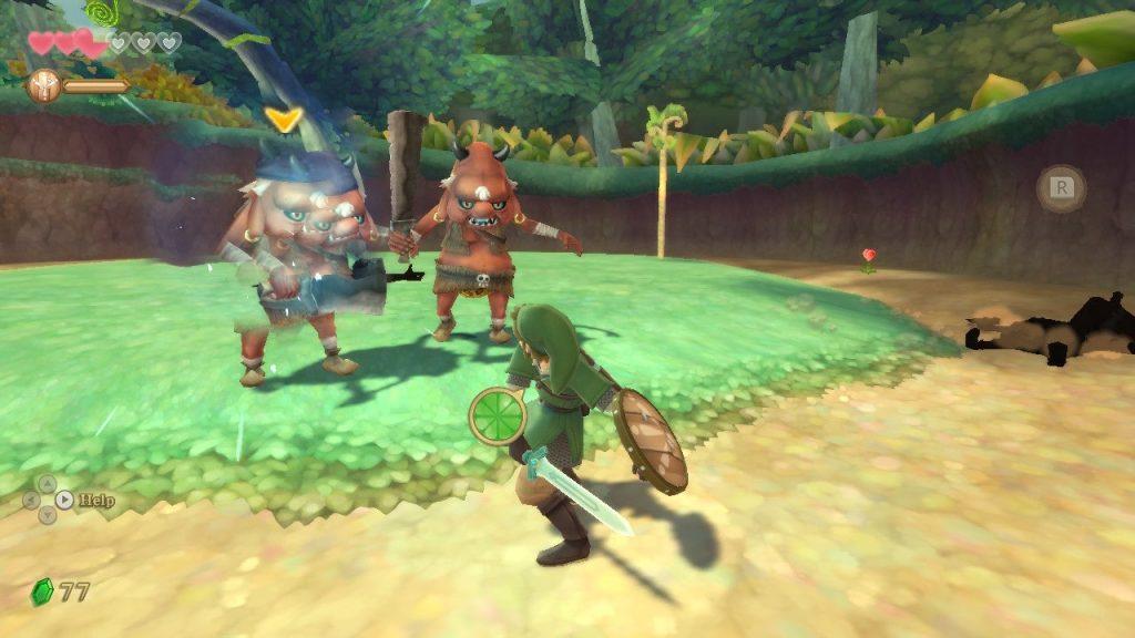 Skyward Sword screenshot combattimento