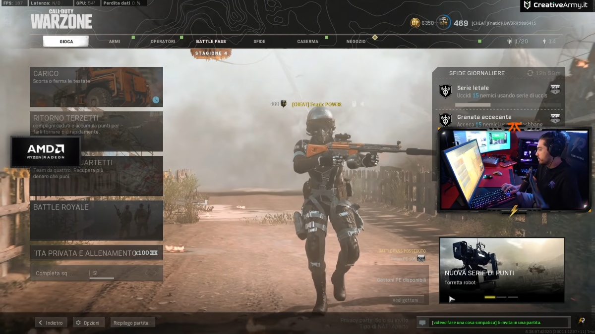 Pow3r cheater chat