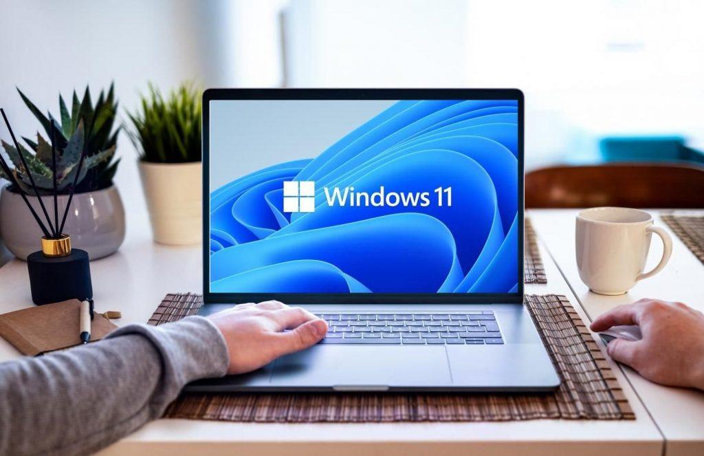 Windows 11 su un notebook