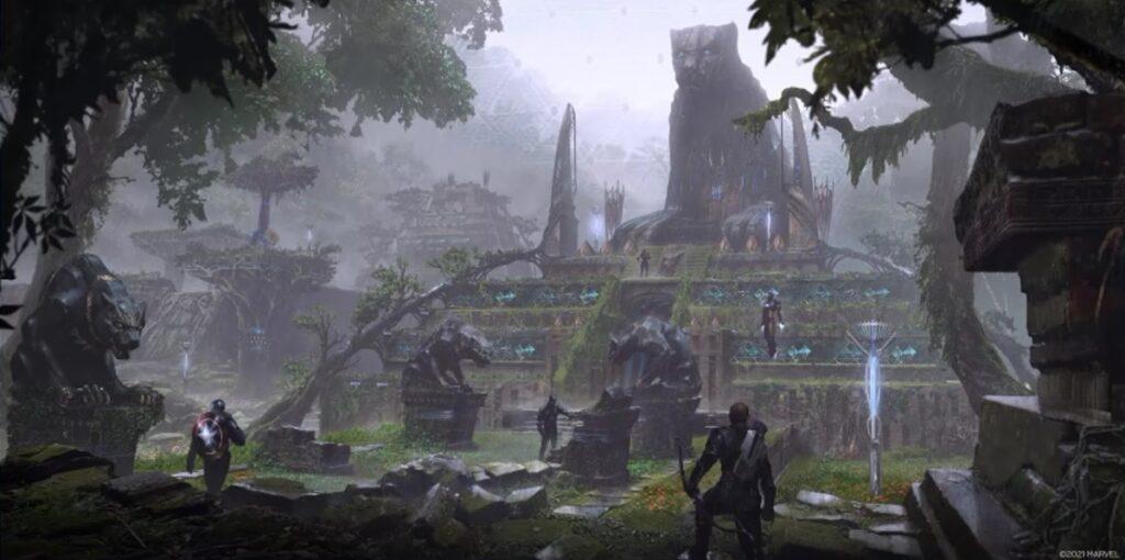 Key art di avengers war for wakanda