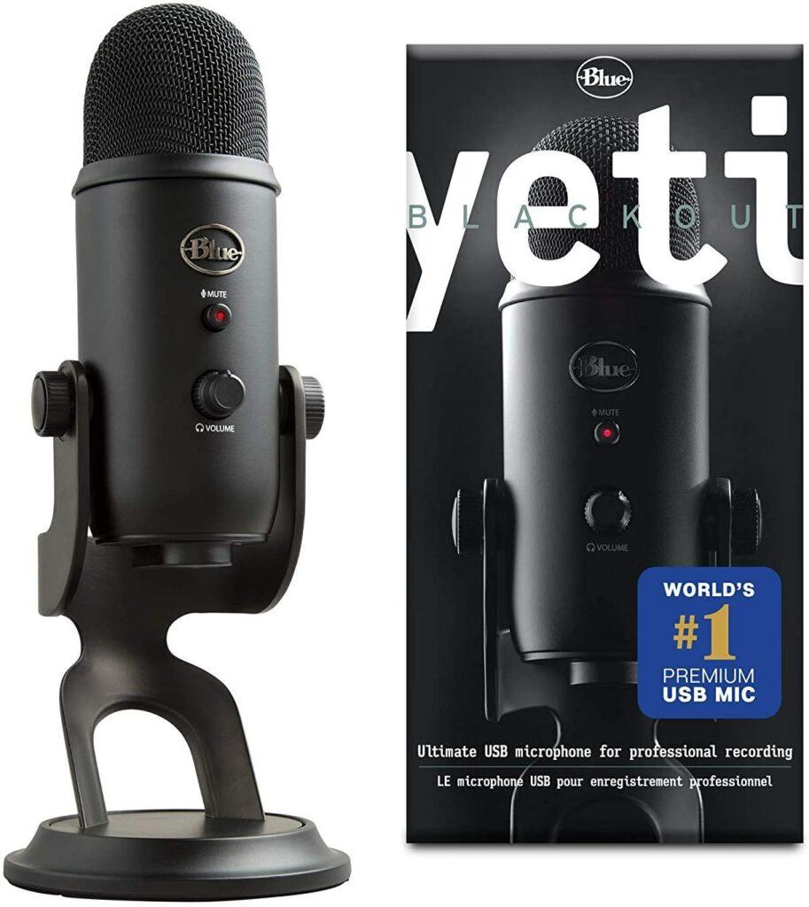 Blue Yeti Microfono Professionale USB a Condensatore Multi-Pattern