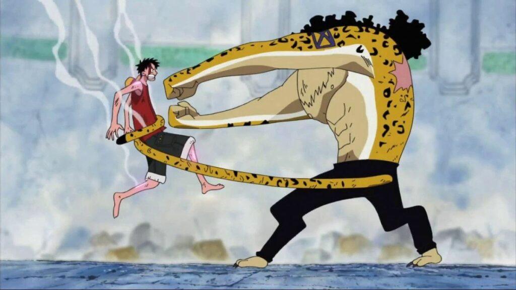 One Piece, Luffy contro Lucci