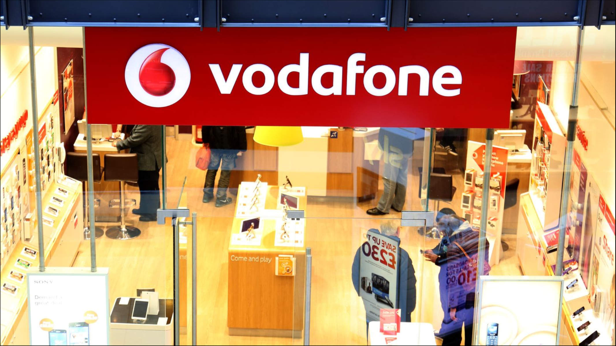 Vodafone UK Roaming Pagamento