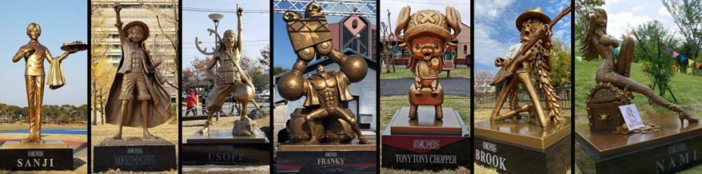 Statu One Piece: Nami, Brook, Chopper, Franky, Usopp, Luffy, Sanji