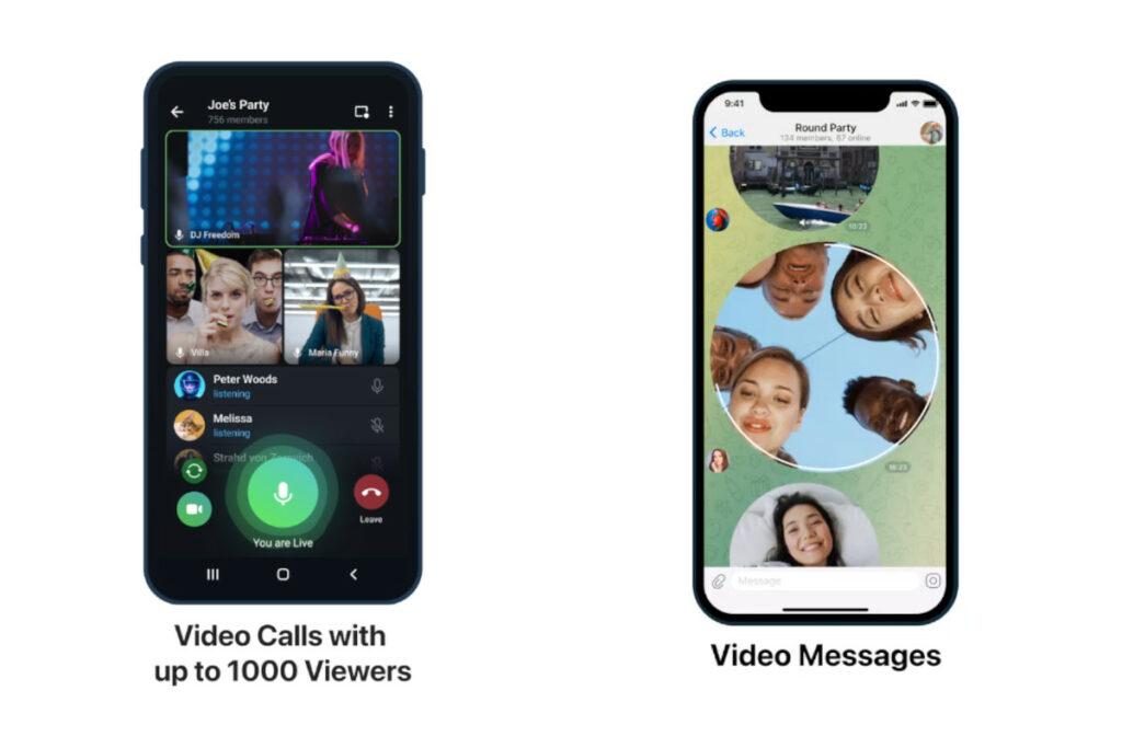 Telegram novità versione 7.9.0 videochiamate